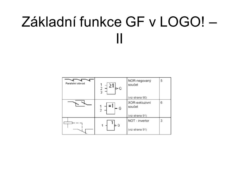 Základní funkce GF v LOGO! – II