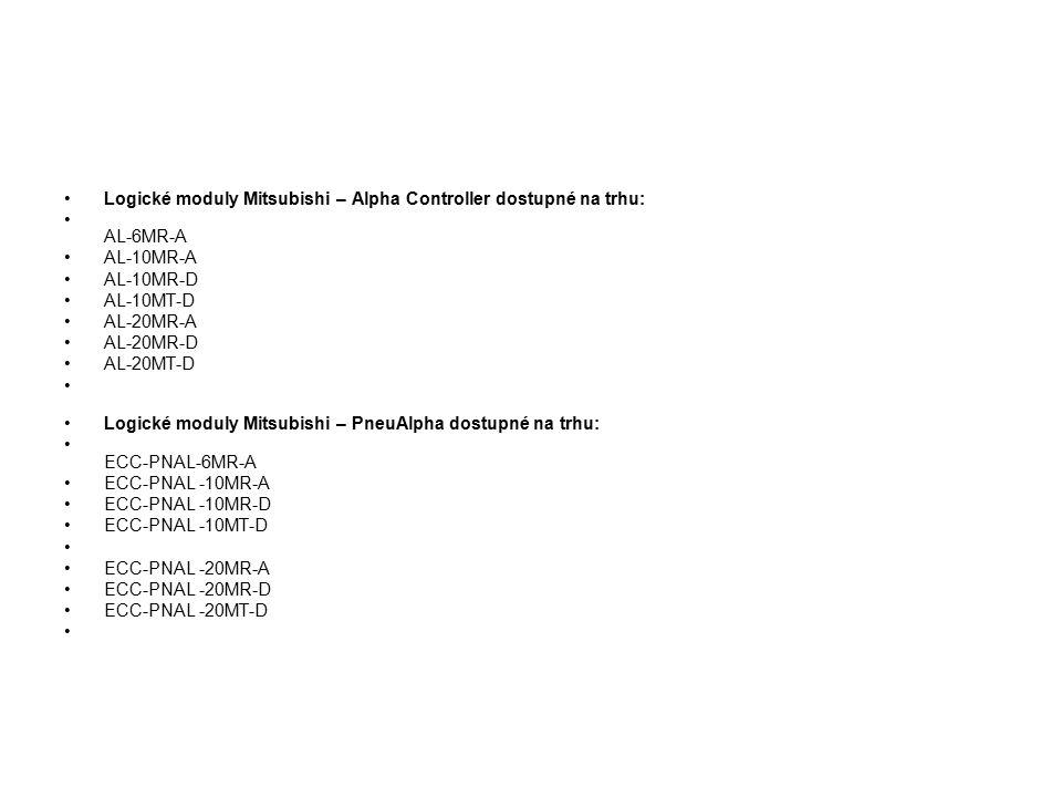 Logické moduly Mitsubishi – Alpha Controller dostupné na trhu: