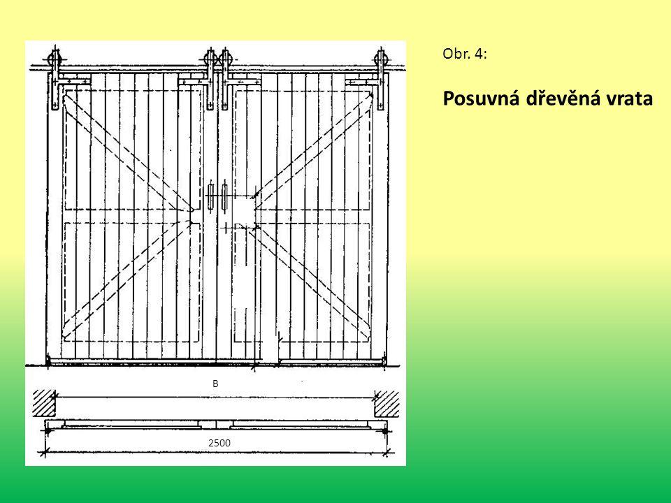 B 2500 Obr. 4: Posuvná dřevěná vrata