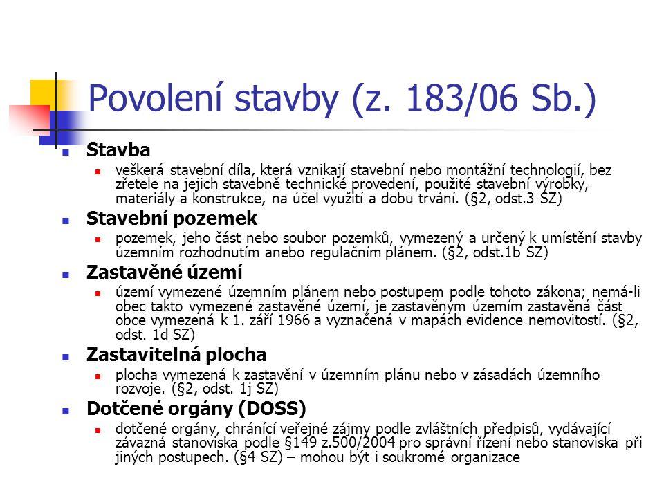 Povolení stavby (z. 183/06 Sb.)
