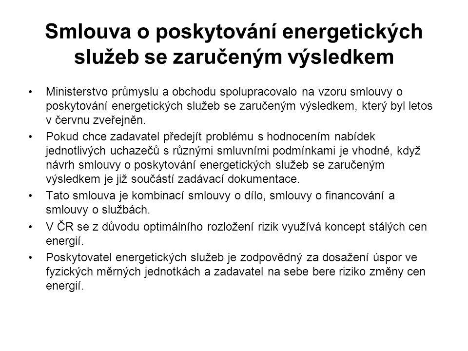Smlouva o poskytování energetických služeb se zaručeným výsledkem