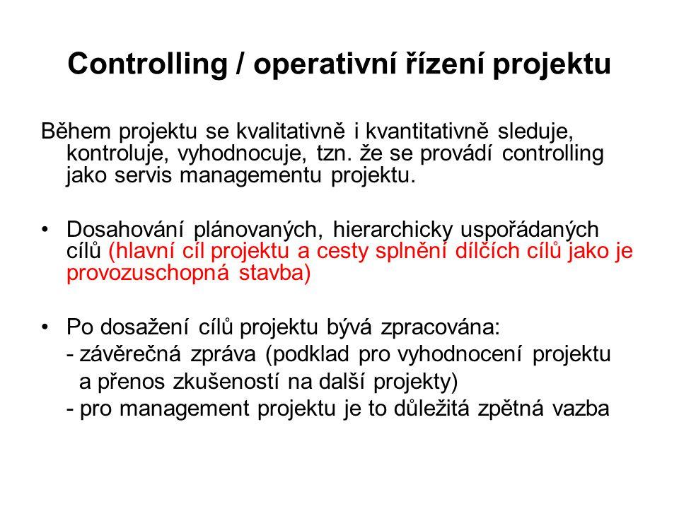 Controlling / operativní řízení projektu