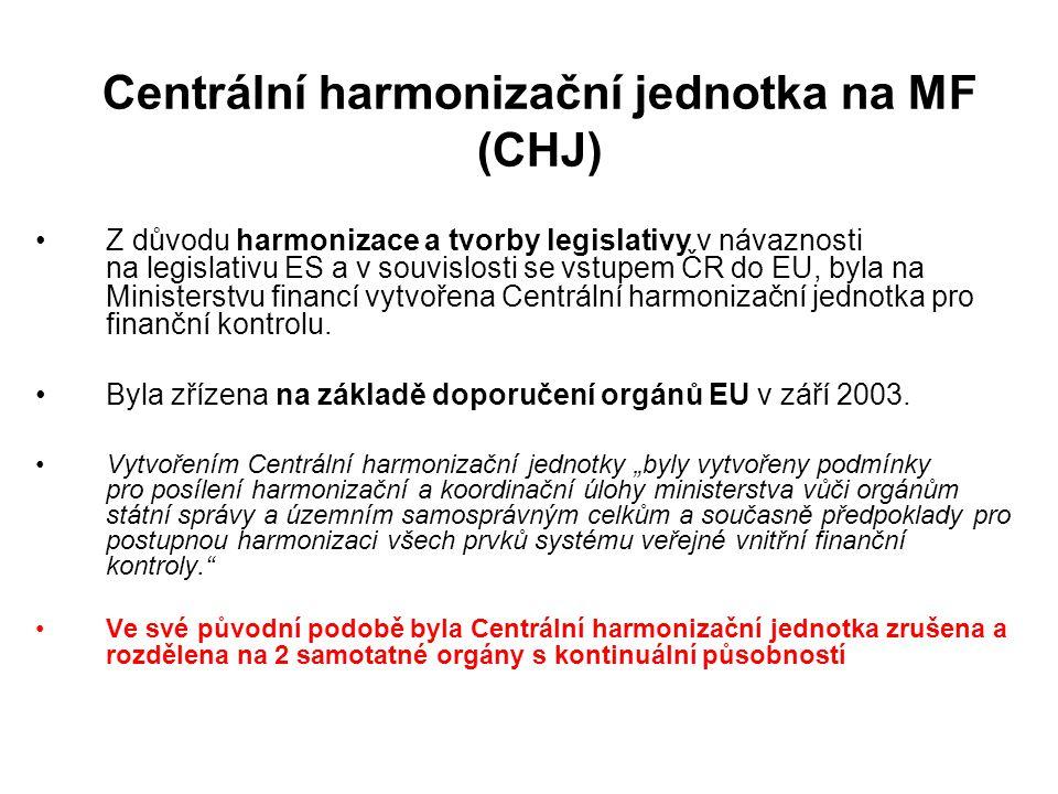Centrální harmonizační jednotka na MF (CHJ)
