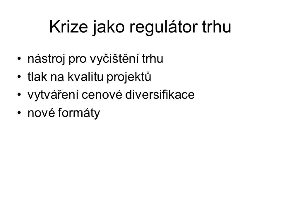 Krize jako regulátor trhu
