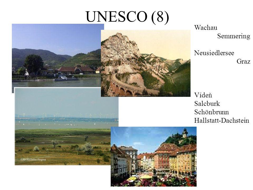 UNESCO (8) Wachau Semmering Neusiedlersee Graz Vídeň Salcburk