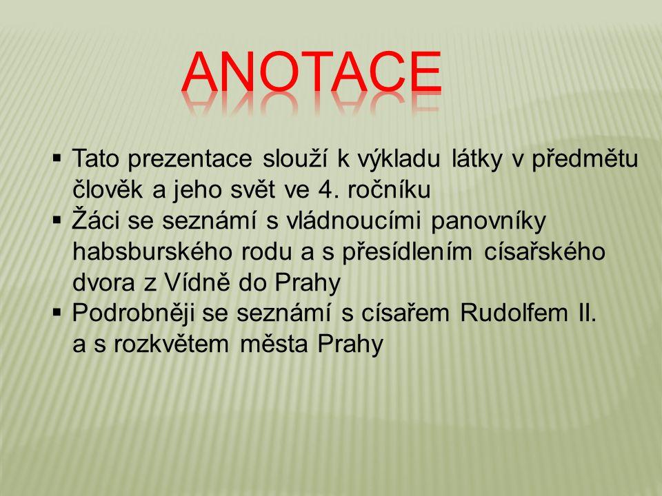 Anotace Tato prezentace slouží k výkladu látky v předmětu