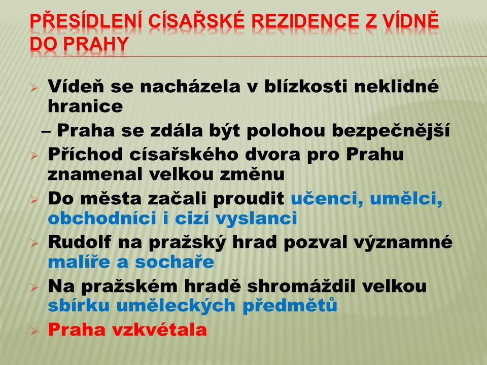 Přesídlení císařské rezidence z Vídně do Prahy