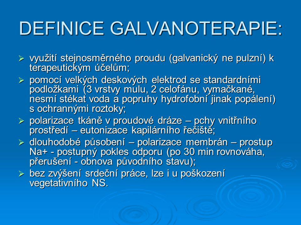 DEFINICE GALVANOTERAPIE: