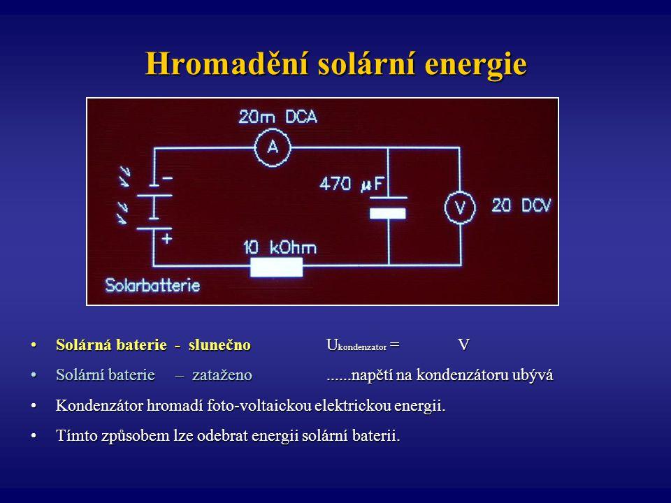 Hromadění solární energie