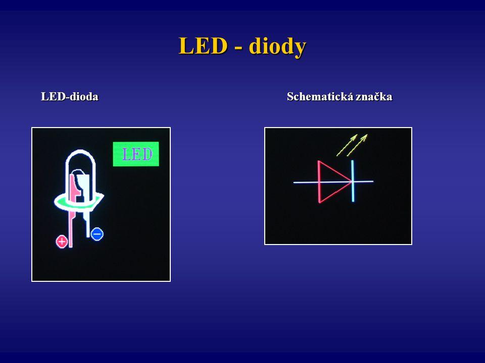 LED - diody LED-dioda Schematická značka.
