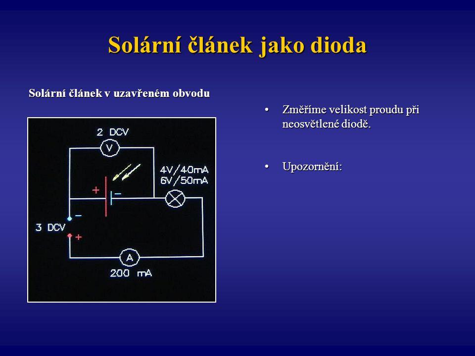 Solární článek jako dioda