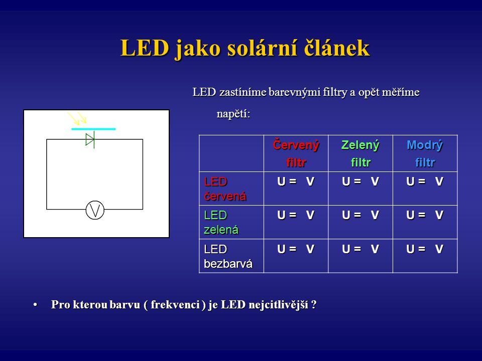 LED jako solární článek