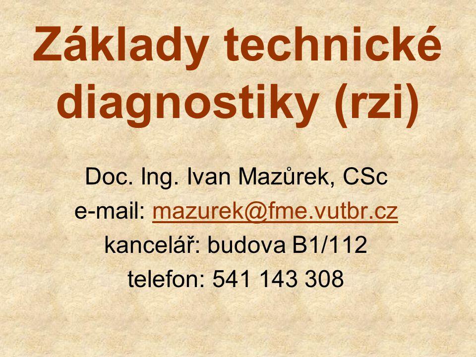 Základy technické diagnostiky (rzi)
