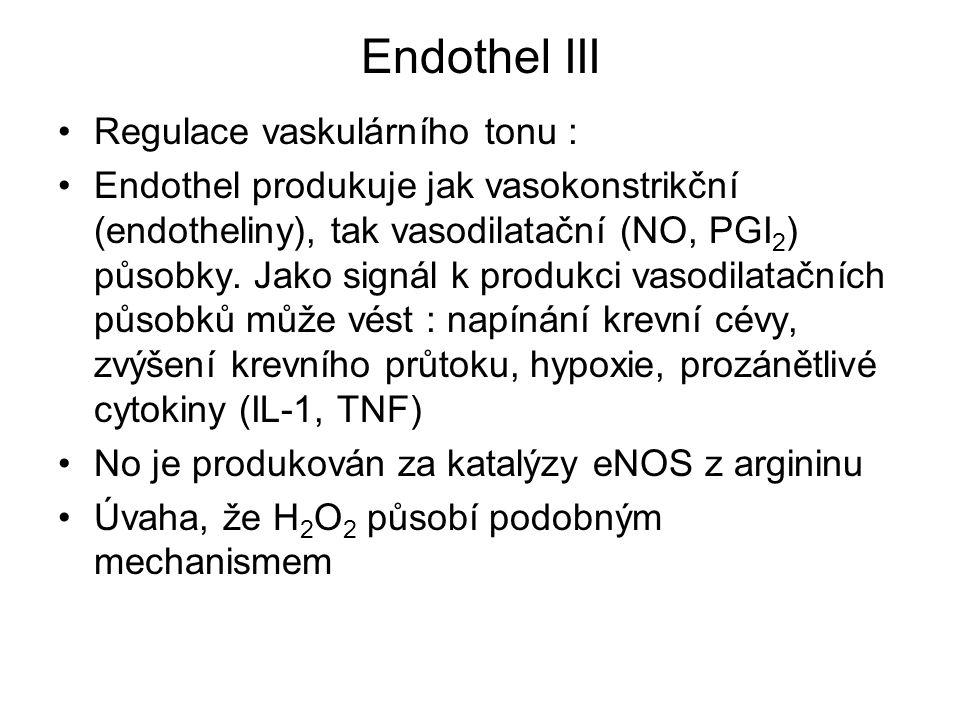 Endothel III Regulace vaskulárního tonu :