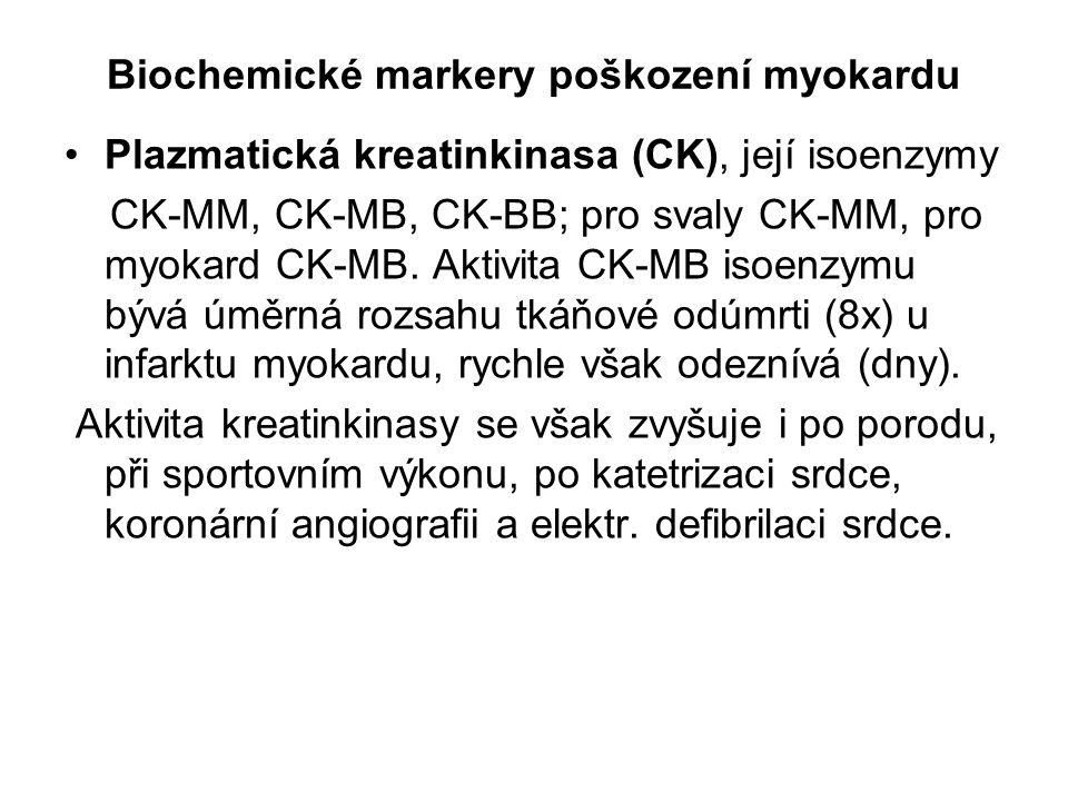 Biochemické markery poškození myokardu