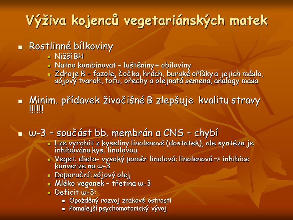 Výživa kojenců vegetariánských matek