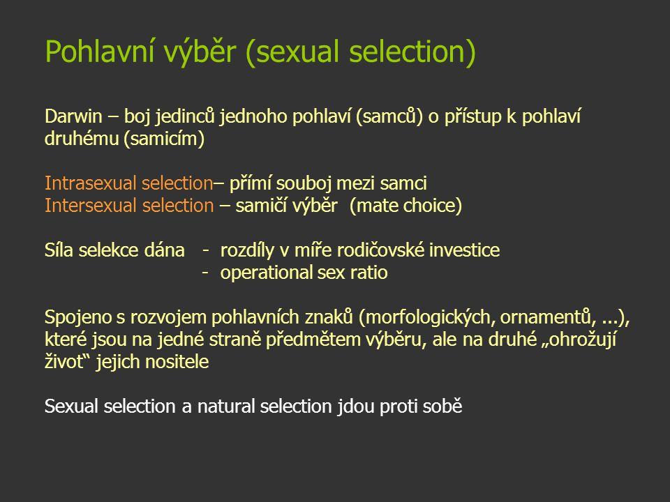 Pohlavní výběr (sexual selection)