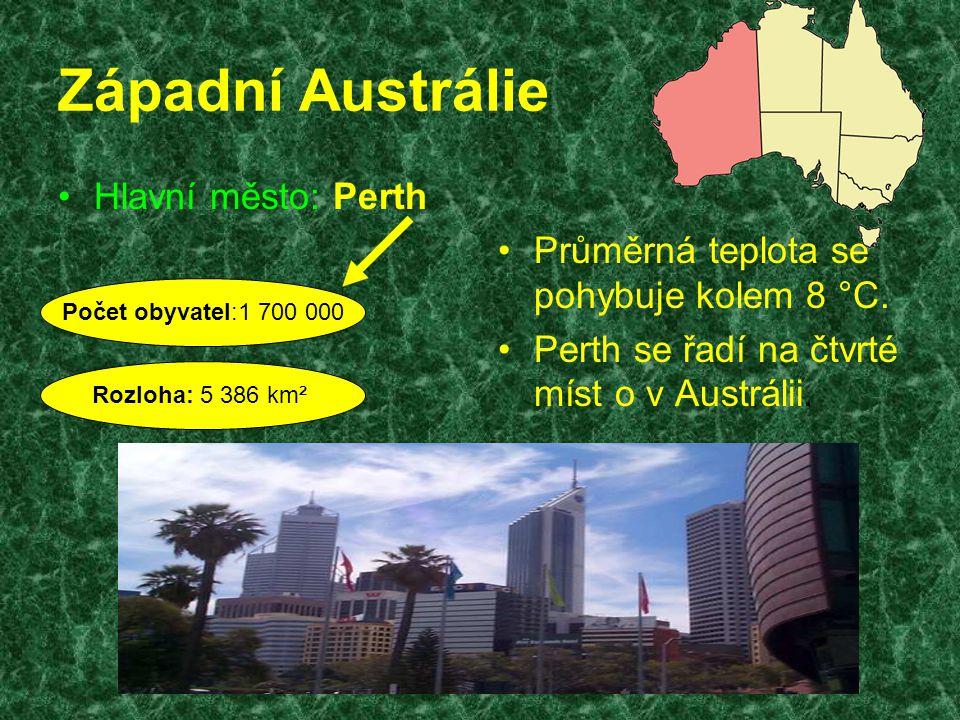 Západní Austrálie Hlavní město: Perth