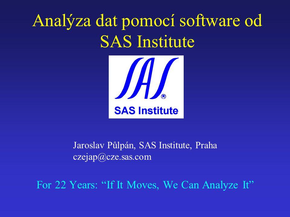 Analýza dat pomocí software od SAS Institute