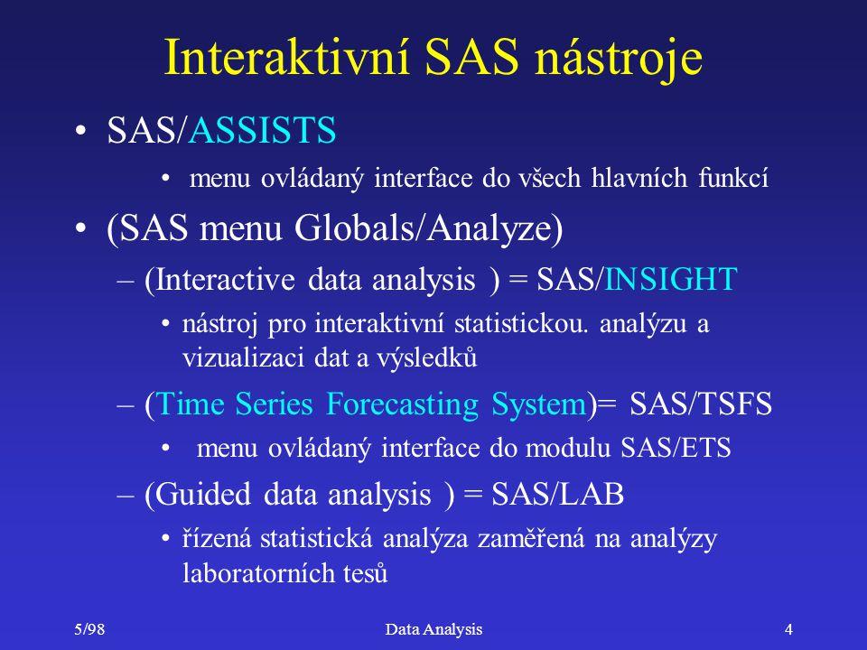 Interaktivní SAS nástroje
