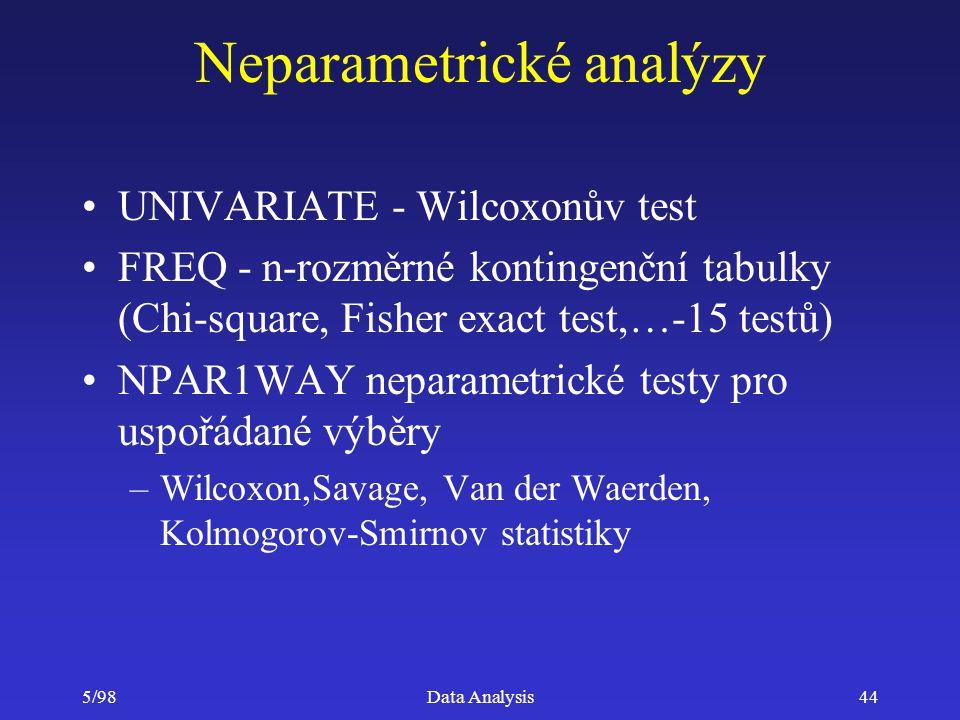 Neparametrické analýzy