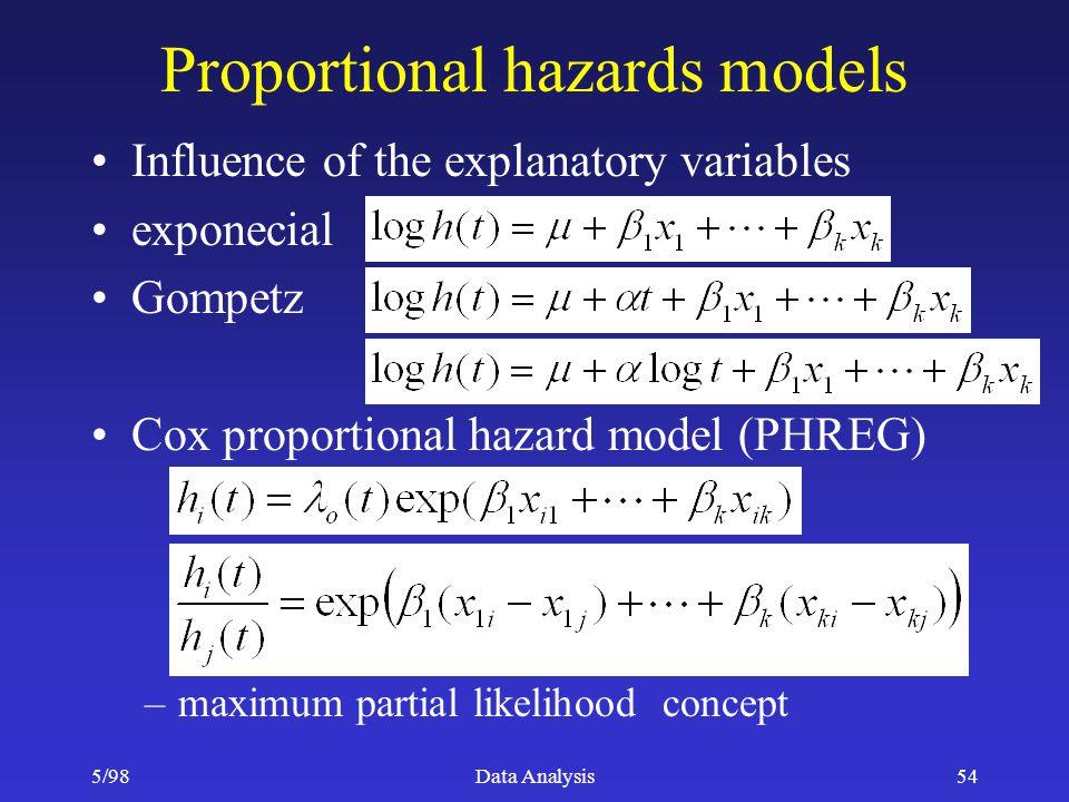 Proportional hazards models