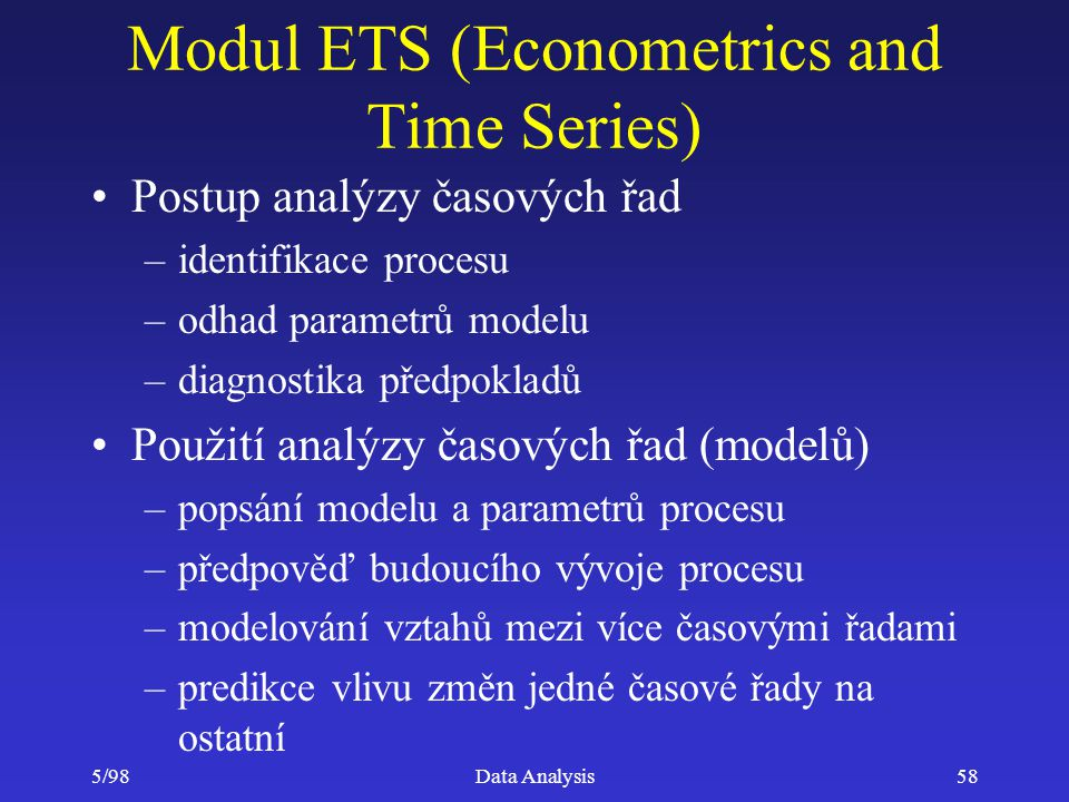 Modul ETS (Econometrics and Time Series)