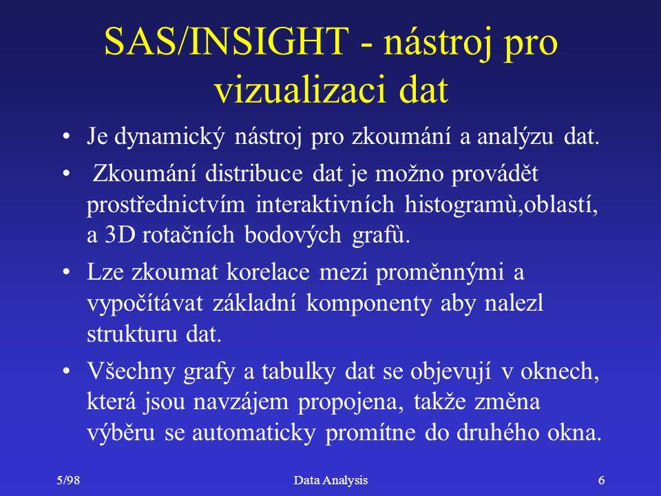 SAS/INSIGHT - nástroj pro vizualizaci dat