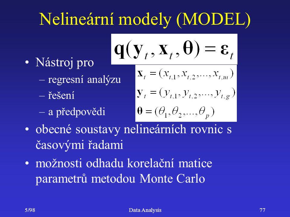 Nelineární modely (MODEL)