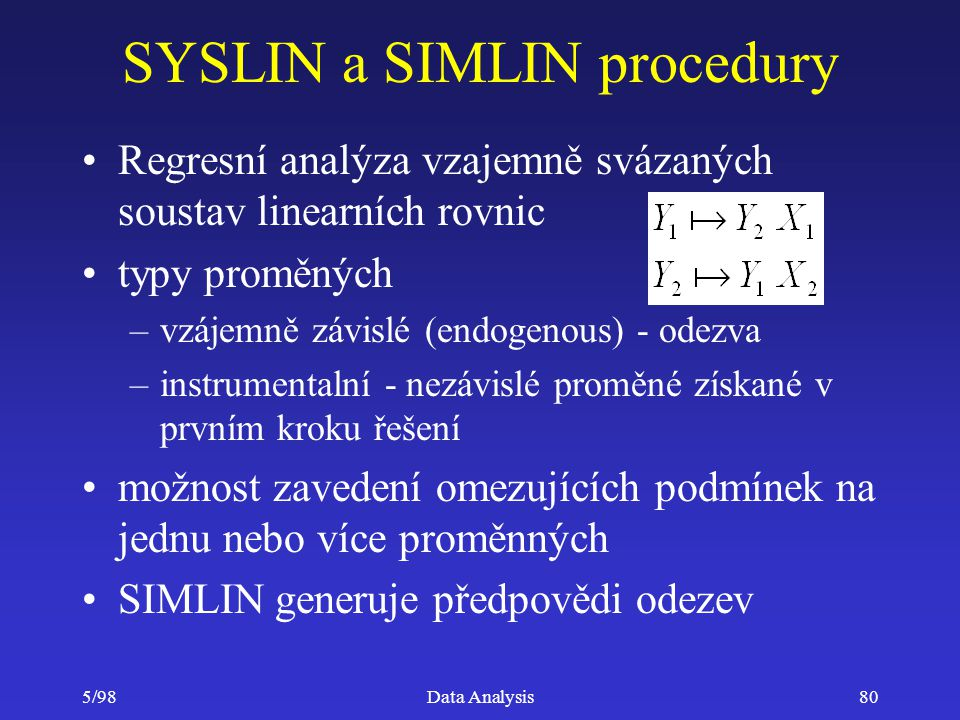 SYSLIN a SIMLIN procedury