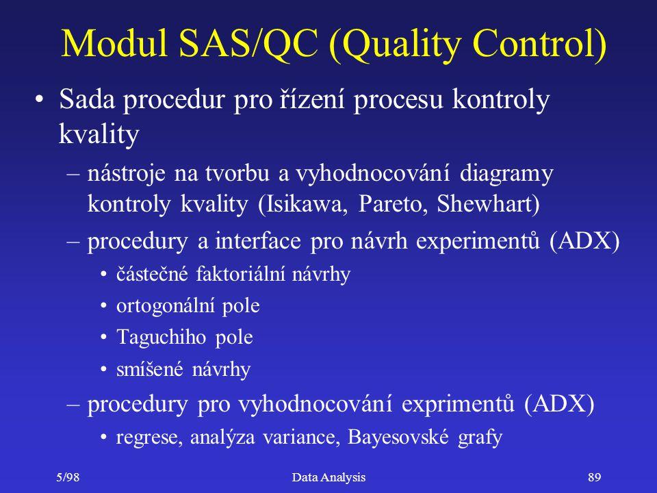 Modul SAS/QC (Quality Control)