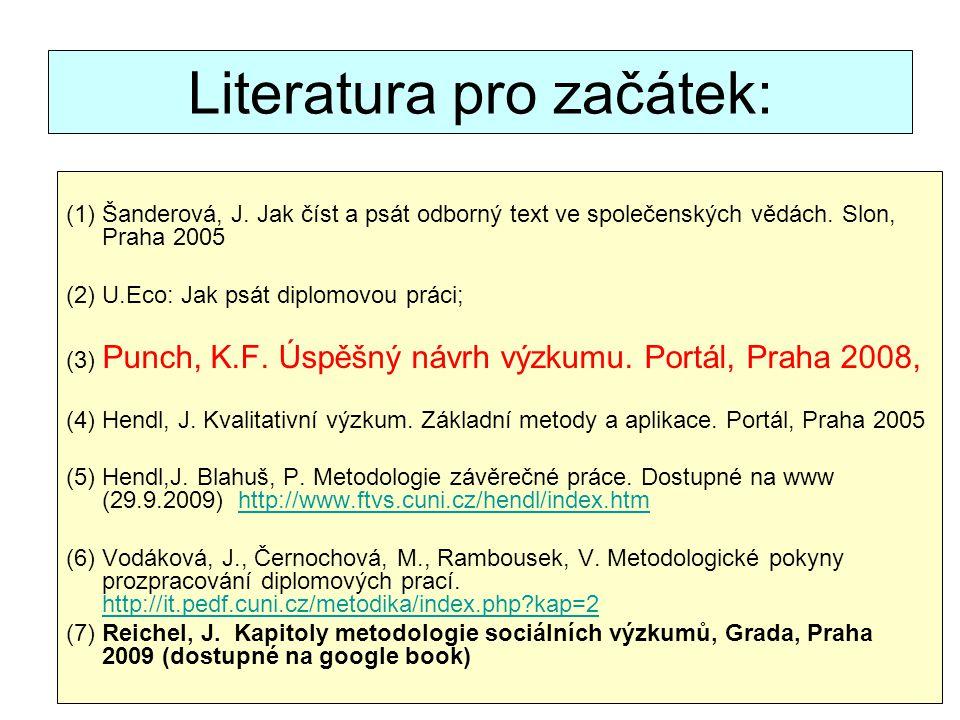 Literatura pro začátek: