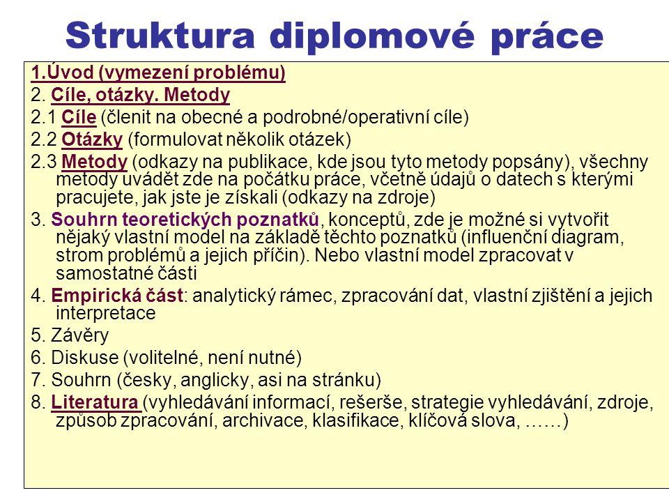 Struktura diplomové práce