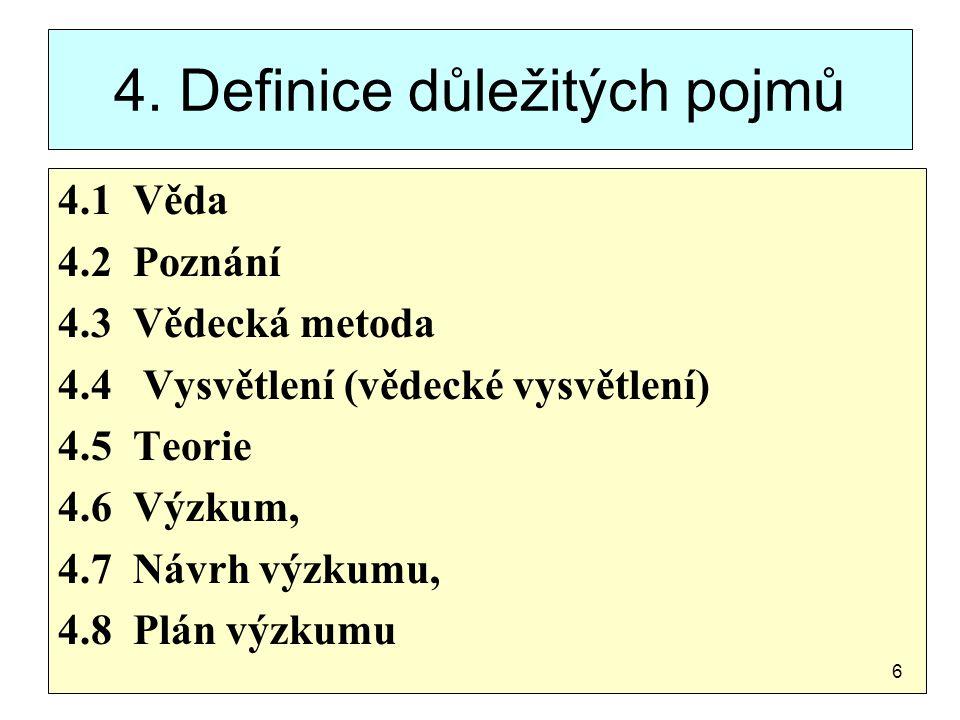 4. Definice důležitých pojmů