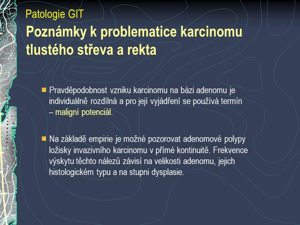 Poznámky k problematice karcinomu tlustého střeva a rekta
