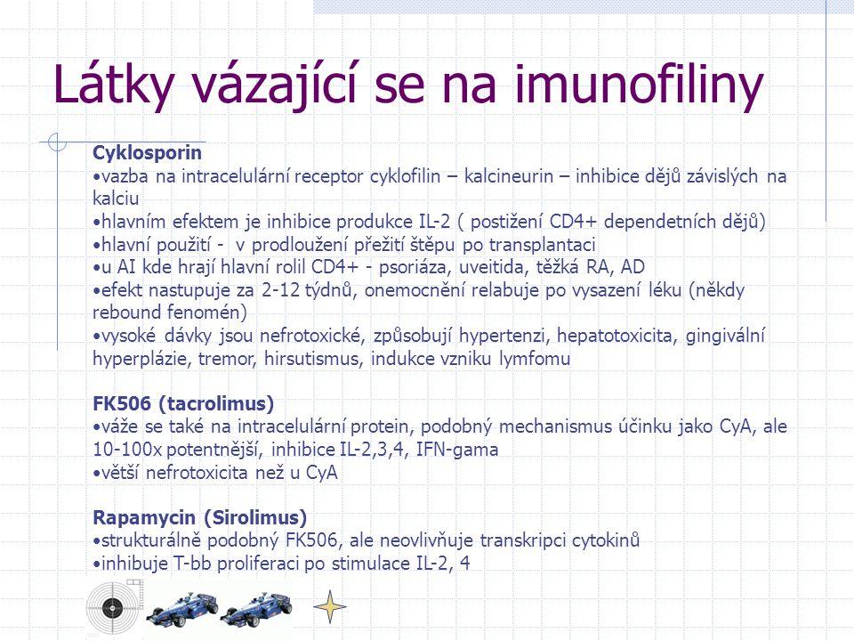 Látky vázající se na imunofiliny