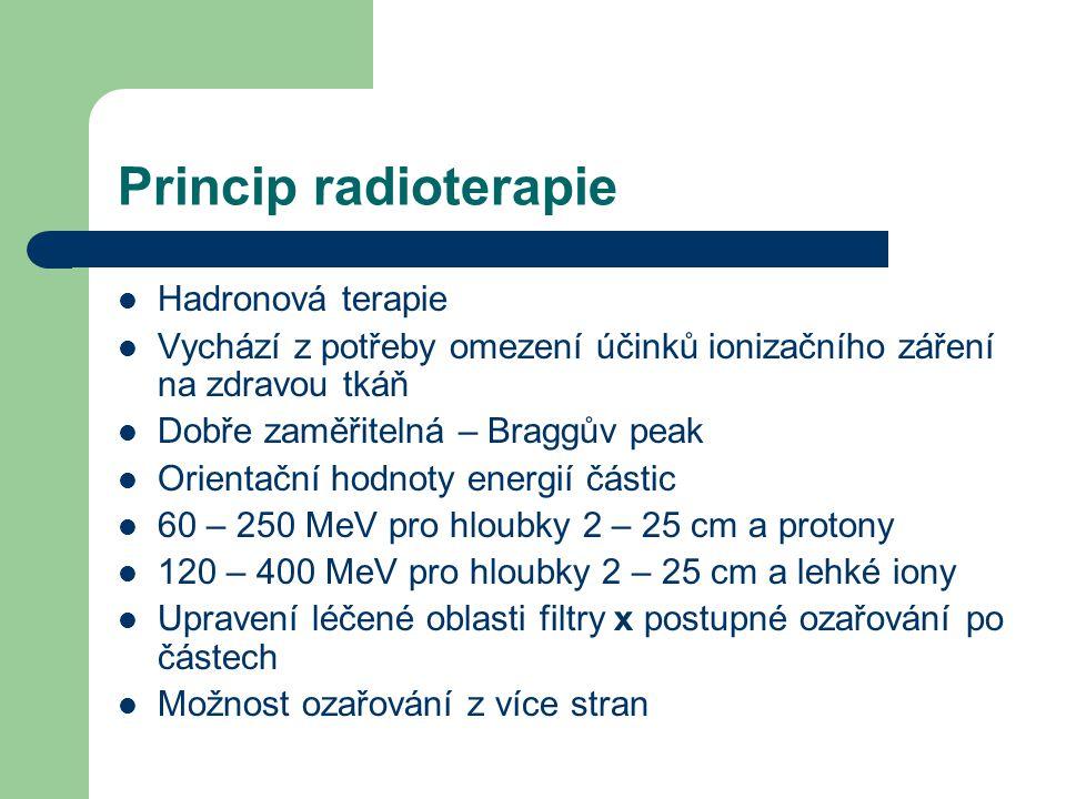 Princip radioterapie Hadronová terapie