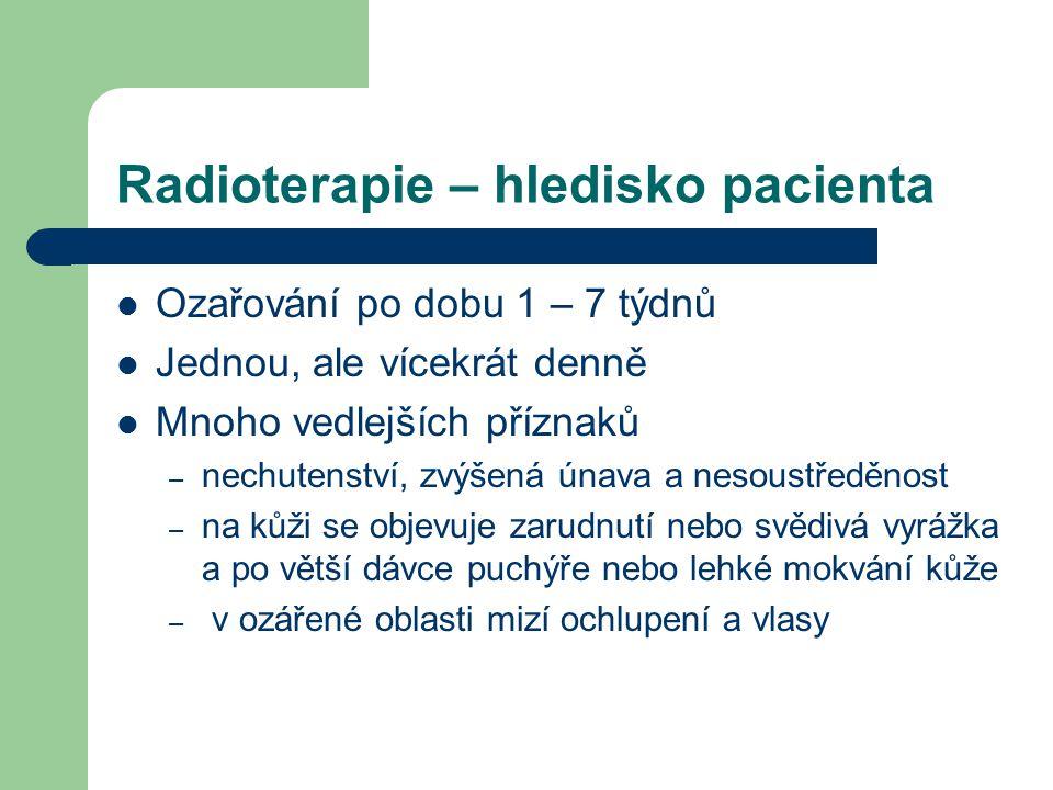 Radioterapie – hledisko pacienta