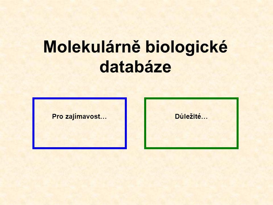Molekulárně biologické databáze