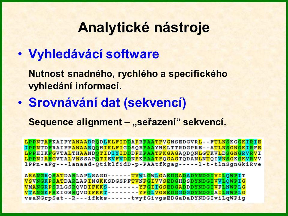 Analytické nástroje Vyhledávácí software