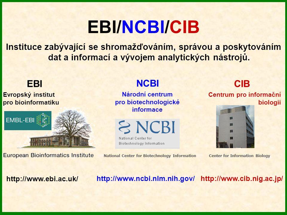 pro biotechnologické informace