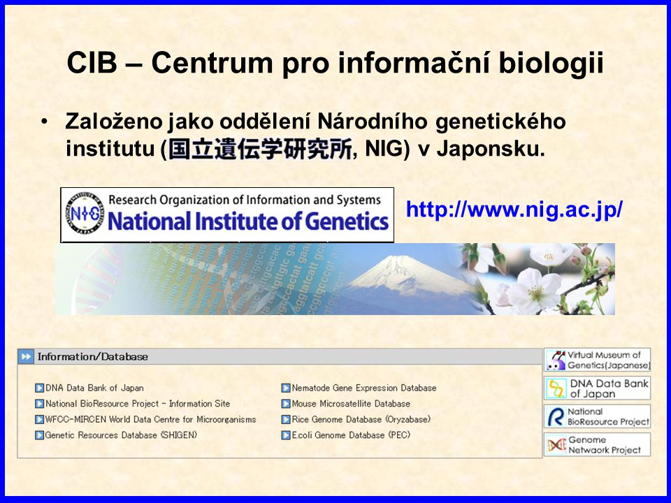 CIB – Centrum pro informační biologii