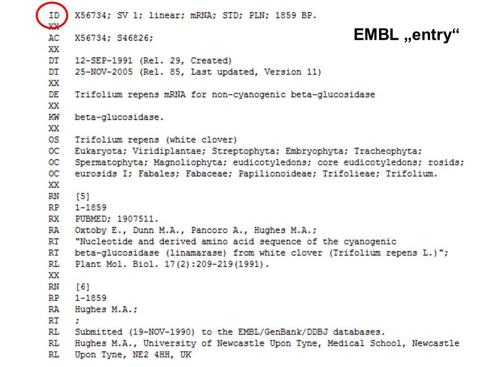 """EMBL """"entry"""