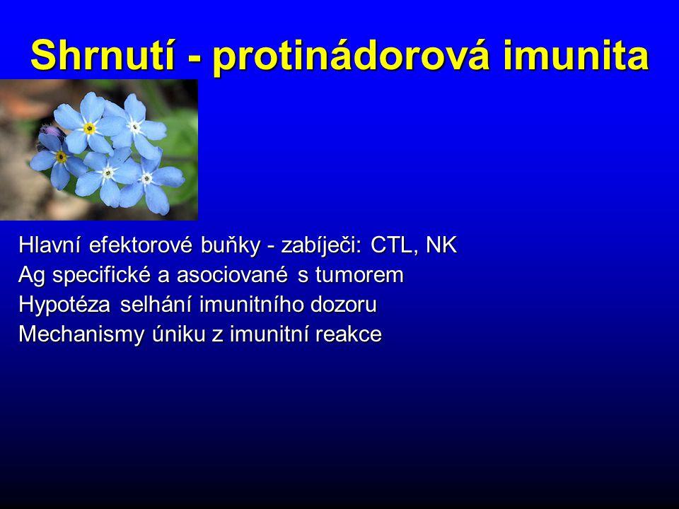 Shrnutí - protinádorová imunita