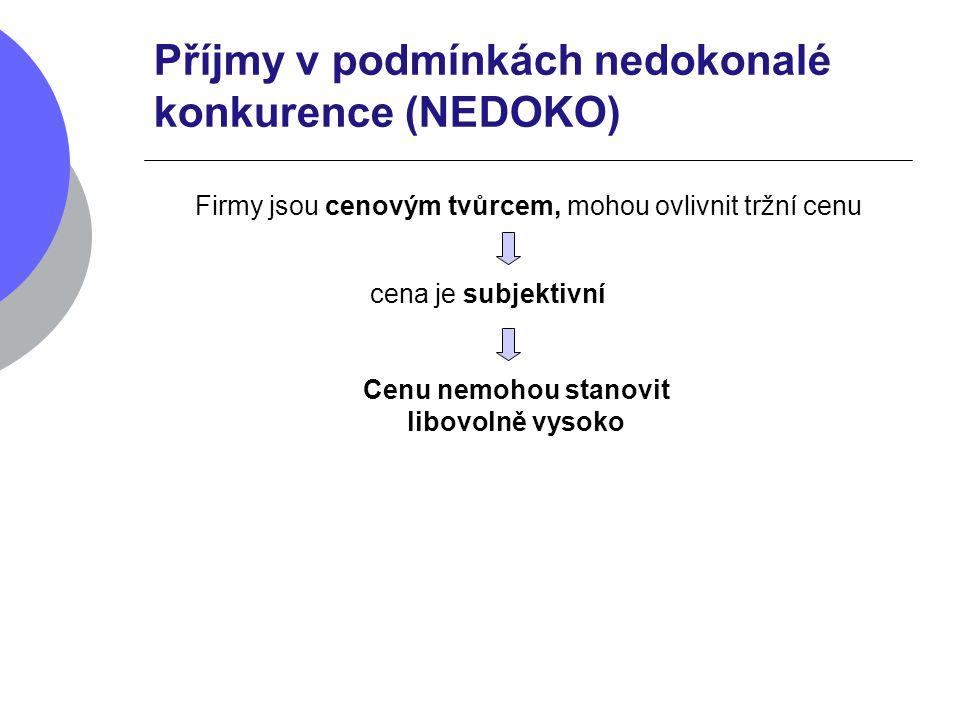 Příjmy v podmínkách nedokonalé konkurence (NEDOKO)