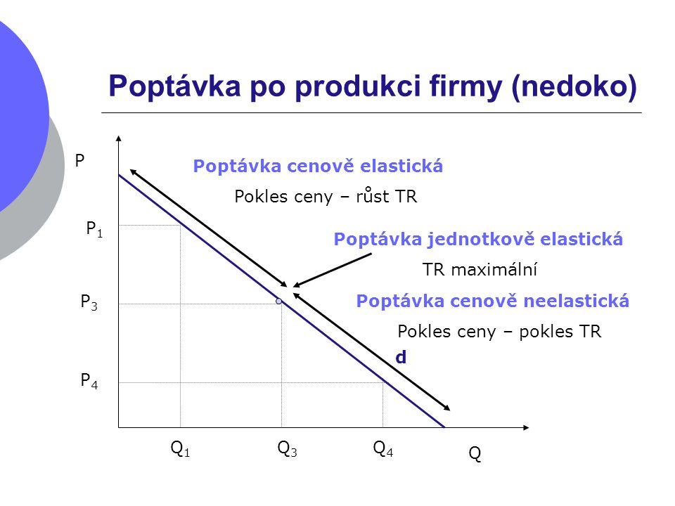 Poptávka po produkci firmy (nedoko)
