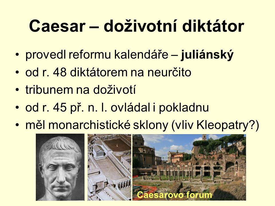 Caesar – doživotní diktátor