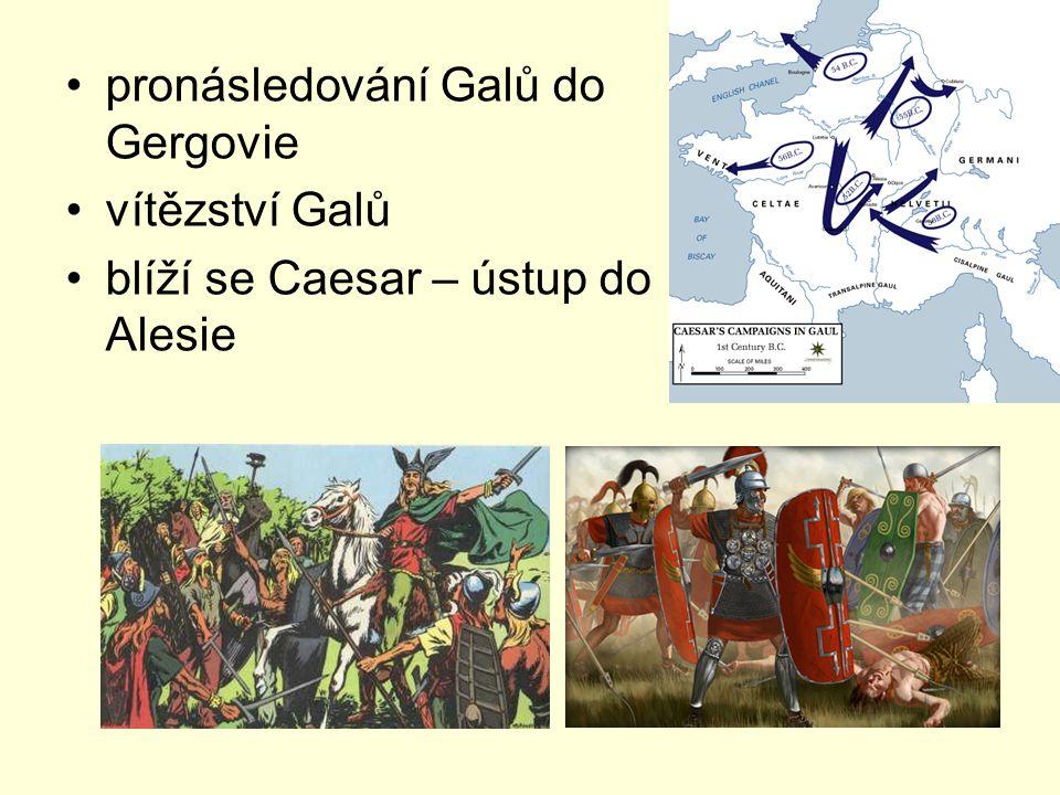 pronásledování Galů do Gergovie