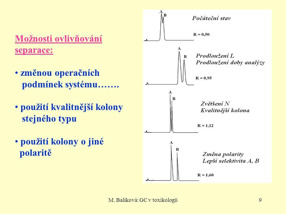 M. Balíková: GC v toxikologii