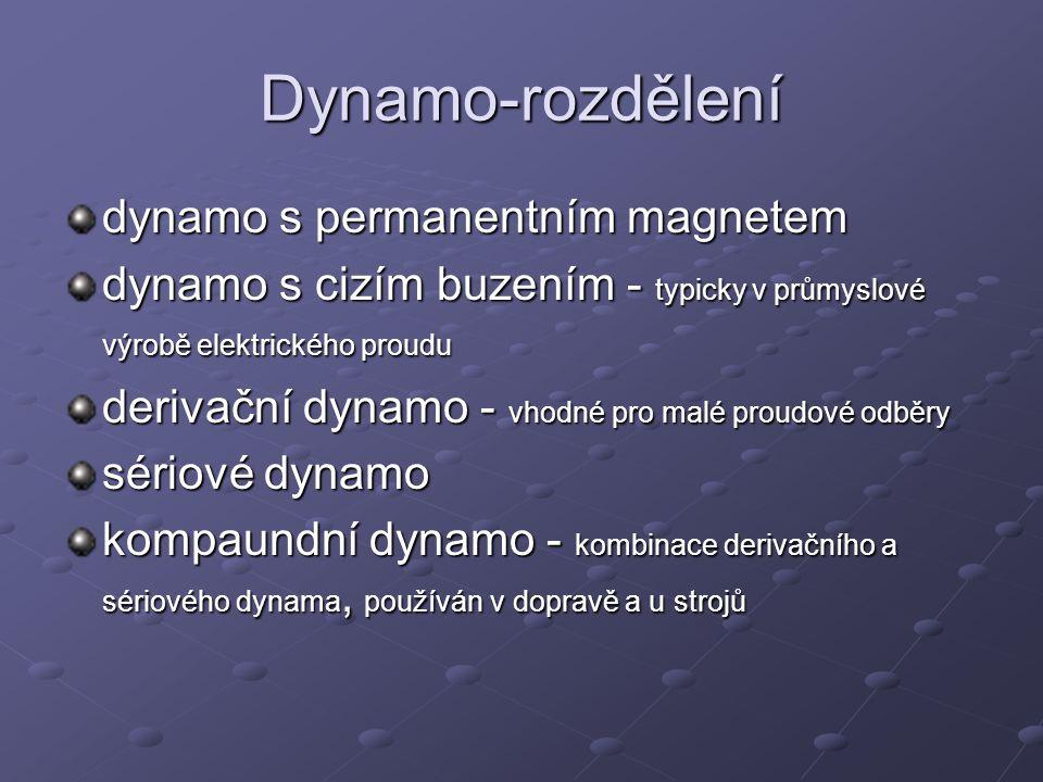 Dynamo-rozdělení dynamo s permanentním magnetem